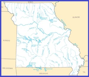 Missouri Rivers Map | Printable High Resolution Rivers Map of Missouri