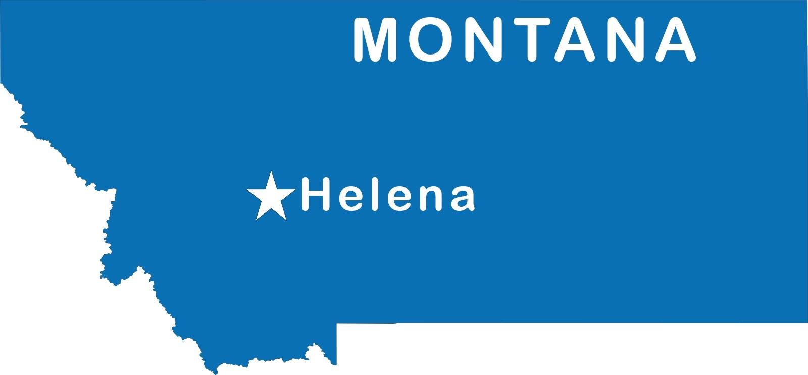 Montana Capital Map | Large Printable High Resolution and Standard Ma