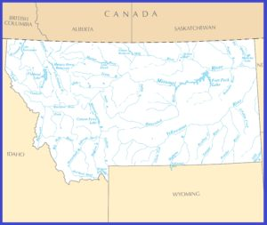 Montana Rivers Map | Large Printable High Resolution and Standard Map