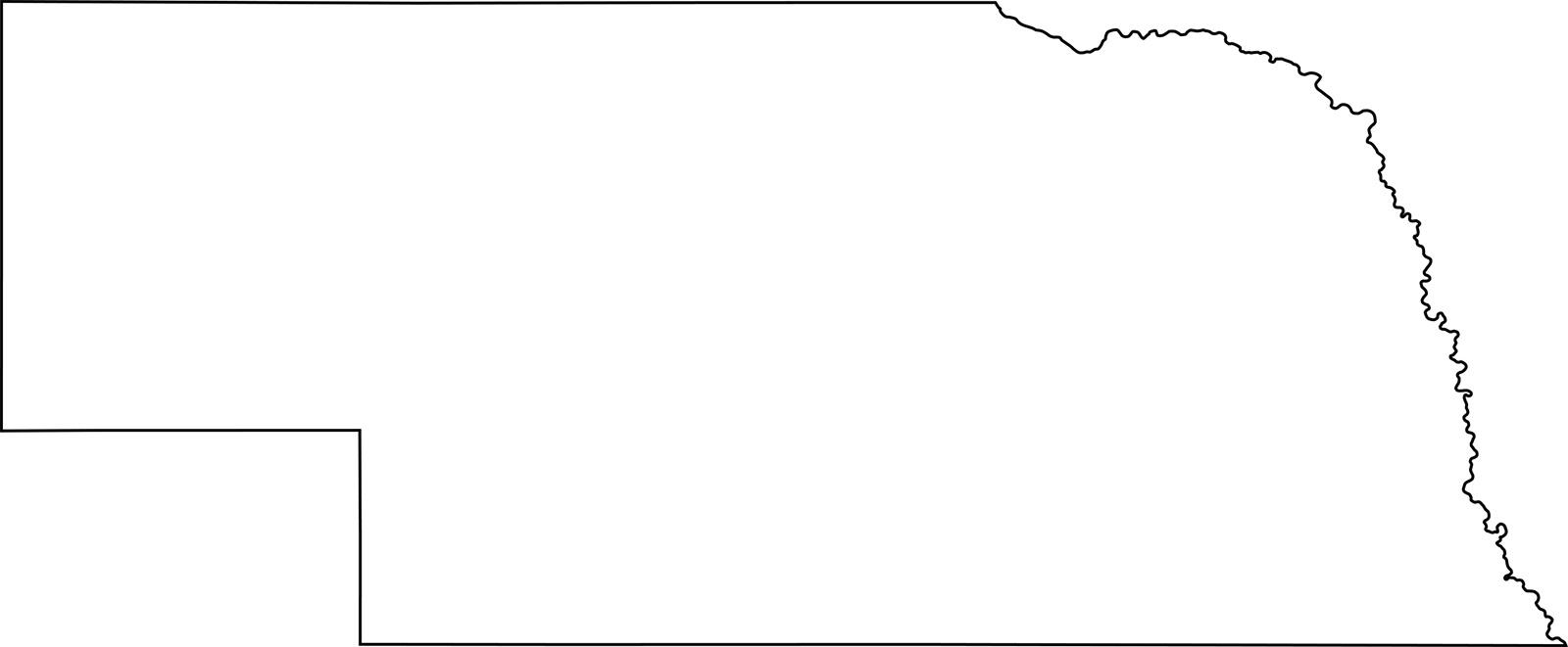 Nebraska Outline Map | Blank Large Printable High Resolution Map