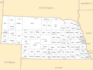 City Map of Nebraska | Large Printable High Resolution Nebraska City Map