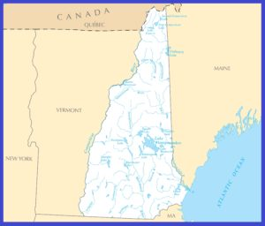 New Hampshire Rivers Map | Large Printable High Resolution and Standard Map