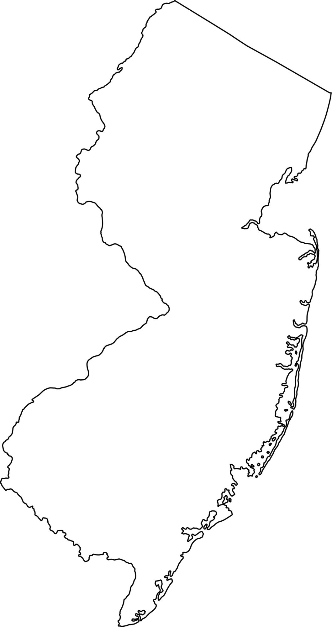New Jersey Blank Outline Map | Large Printable HD Map
