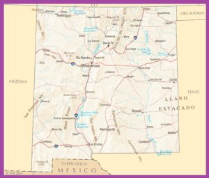 New Mexico Political Map | Large Printable High Resolution and Standard Map