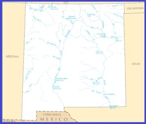 New Mexico Rivers Map | Large Printable High Resolution and Standard Map