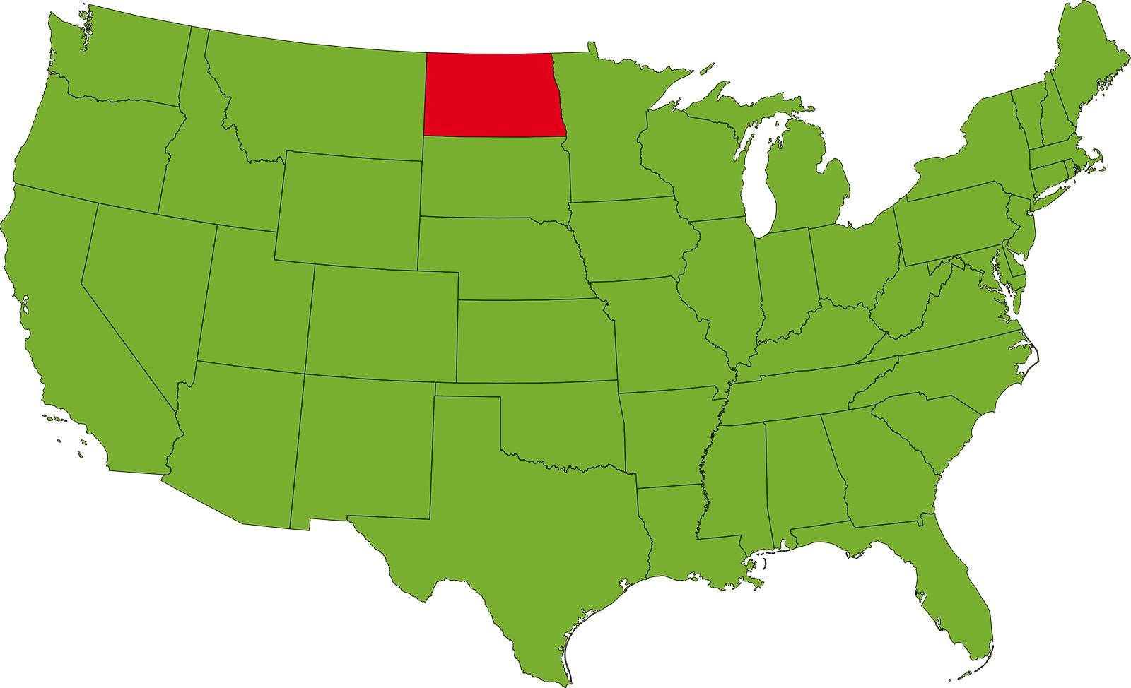 North Dakota Location Map | Large Printable High Resolution and Standard Map