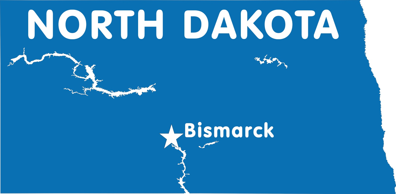 North Dakota Capital Map | Large Printable High Resolution and Standard Map