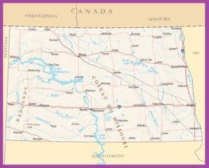 North Dakota Political Map | Large Printable High Resolution and Standard Map