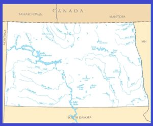 North Dakota Rivers Map | Large Printable High Resolution and Standard Map