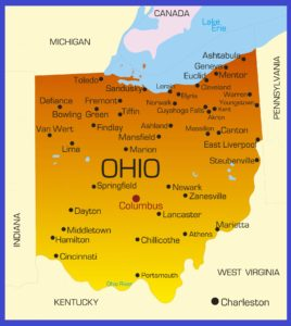 Ohio Details Map | Large Printable High Resolution and Standard Map