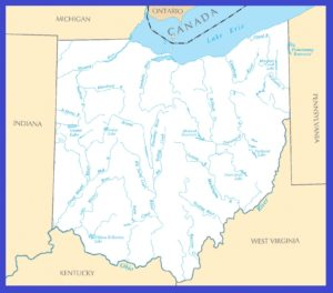 Rivers Map of Ohio | Large Printable High Resolution and Standard Map