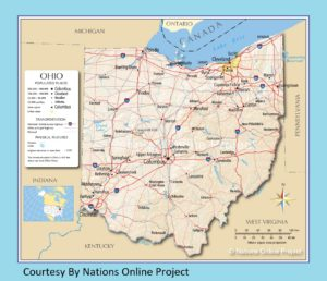 Ohio Transportation And Physical Map | Large Printable HD Map