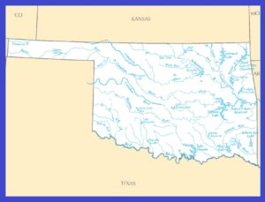 Oklahoma Rivers Map | Large Printable High Resolution and Standard Map