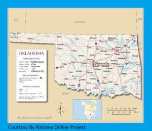 Oklahoma Transportation And Physical Map | Large Printable HD Map