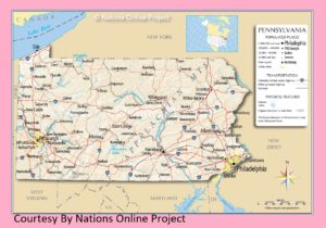 Pennsylvania Transportation And Physical Map | Large Printable Map