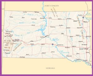 South Dakota Political Map | Large Printable High Resolution and Standard Map