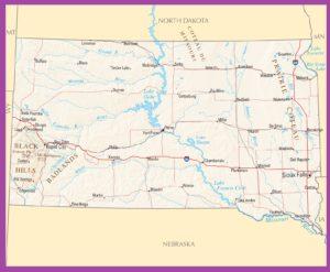 South Dakota Political Map | Large Printable High Resolution and Standard Map