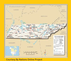 Tennessee Transportation And Physical Map | Large And Printable Map
