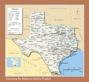 Texas Transportation And Physical Map | Large Printable Map