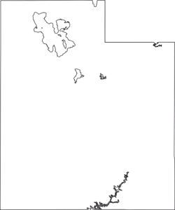 Utah blank outline Map | Large Printable High Resolution and Standard Map