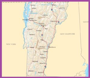 Vermont Political Map | Large Printable High Resolution and Standard Map