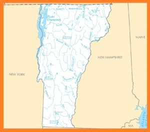Vermont Rivers Map | Large Printable High Resolution and Standard Map