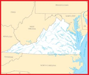 Virginia Rivers Map | Large Printable High Resolution and Standard Map