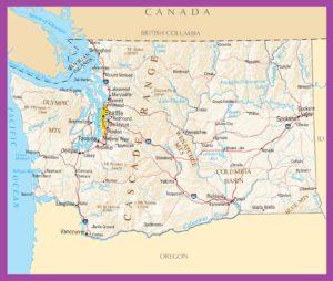 Washington Political Map | Large Printable High Resolution and Standard Map