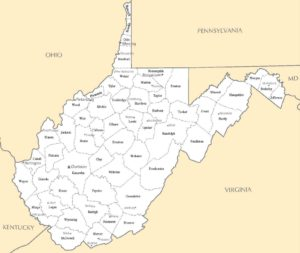 West Virginia Cities Map | Large Printable High Resolution and Standard Map