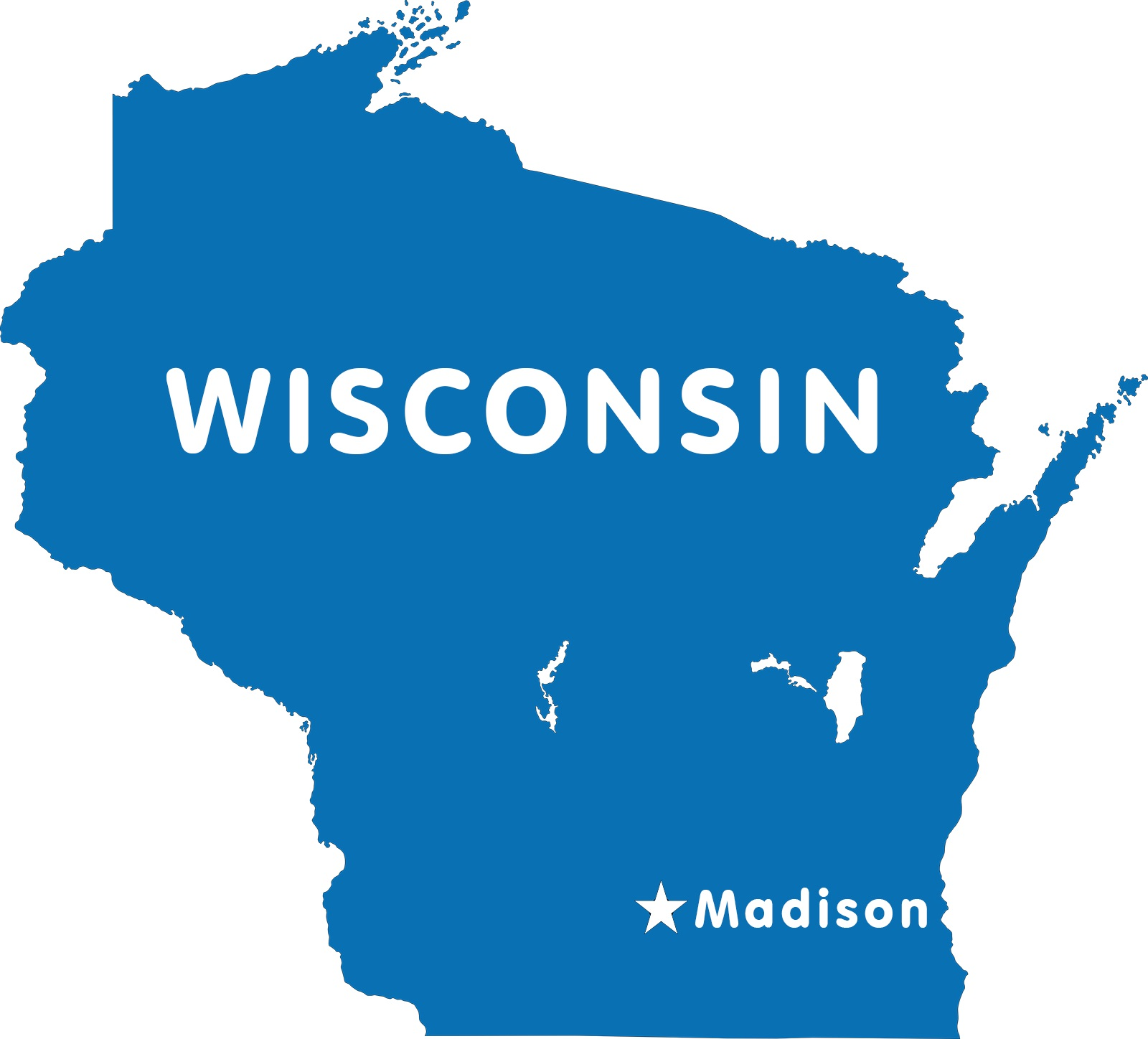 Wisconsin Capital Map | Large Printable High Resolution and Standard Map
