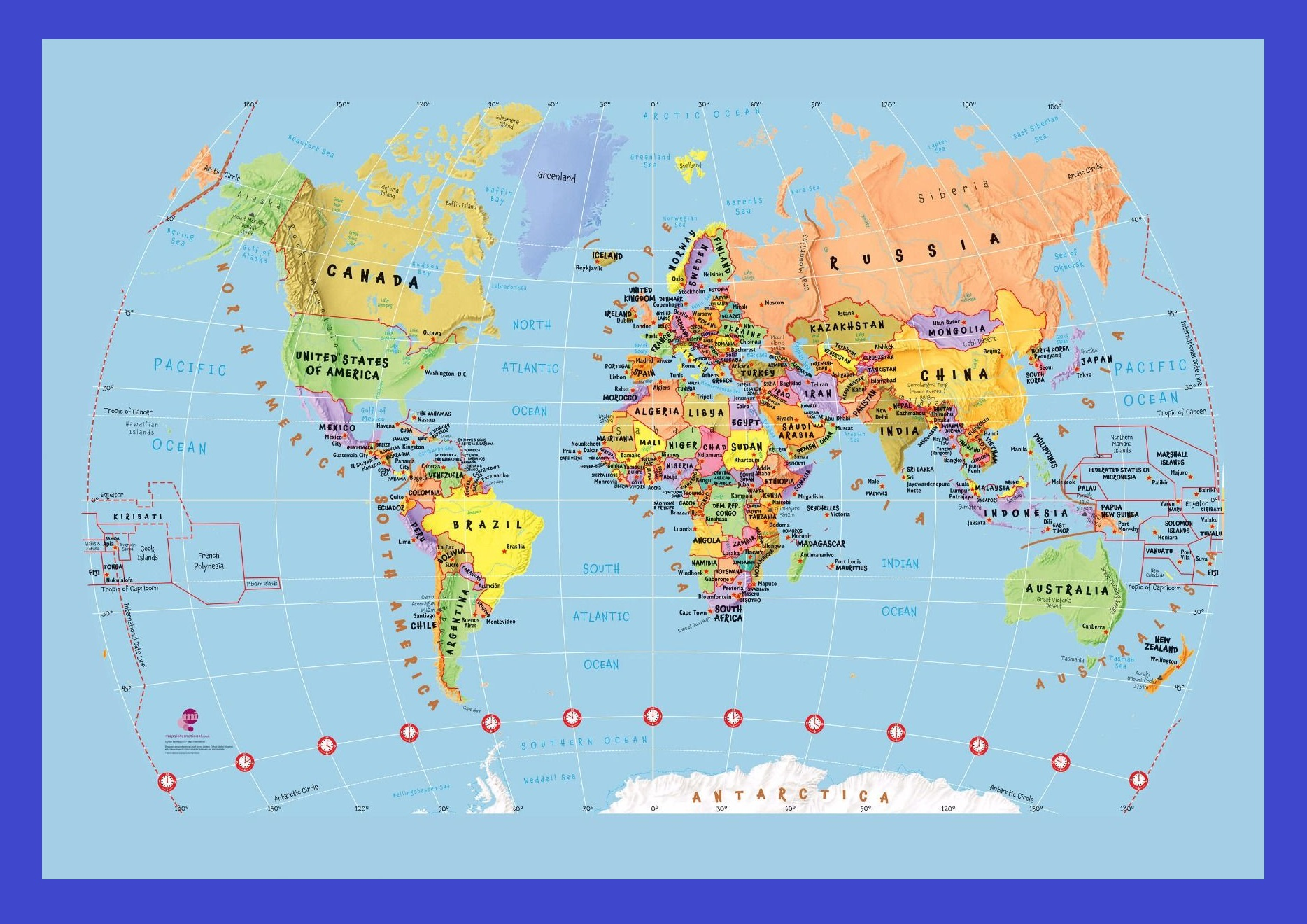 The World Map | Large Printable And HD
