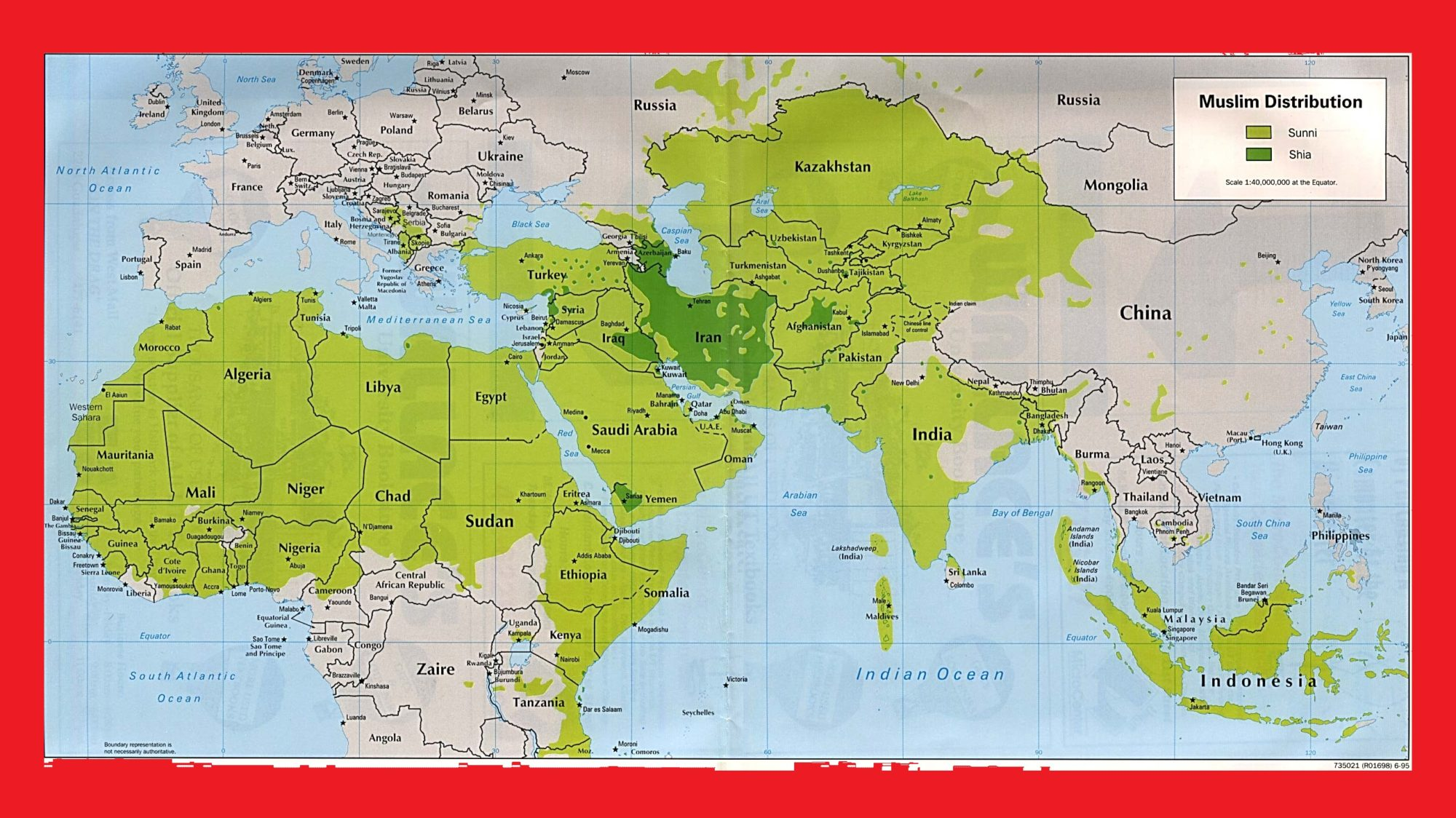 World Muslim Distribution Map | Large, Printable World Religion Map