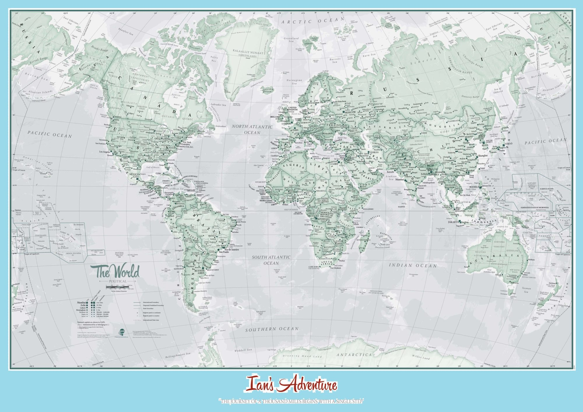 The World Political Map | Large, Printable, Children Choice, Political Map- 6