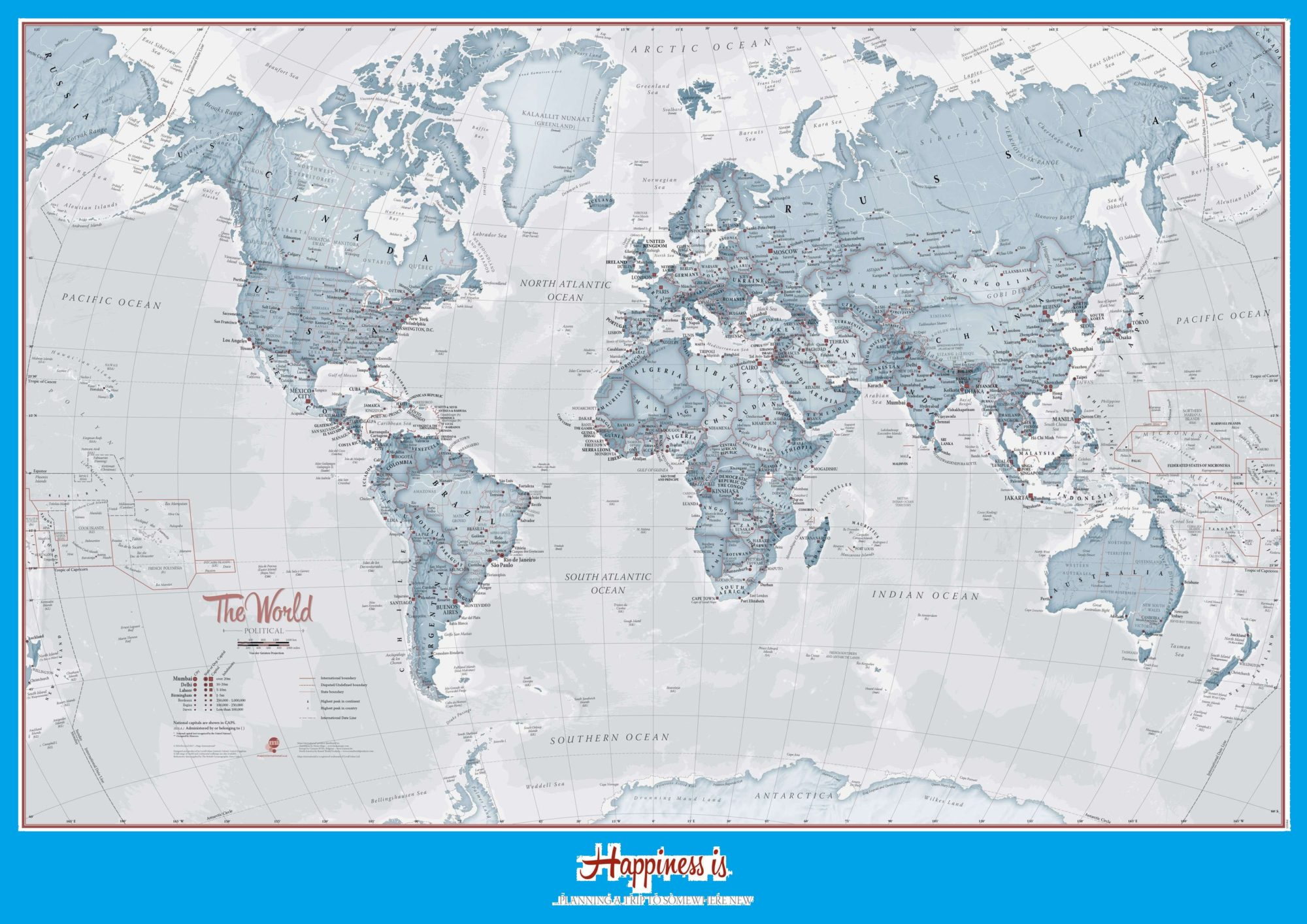 The World Political Map | Large, Printable, Children Choice, Political Map – 7