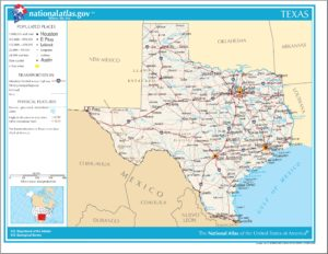 Texas Political Map   Large Printable High Resolution and Standard Map