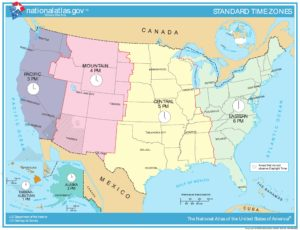 Time Zone Map of USA | Details And Large Time Zone Map