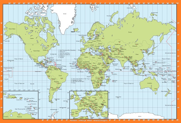 The World Political  Map with Capital | Large, Printable, Children Choice, Political Map