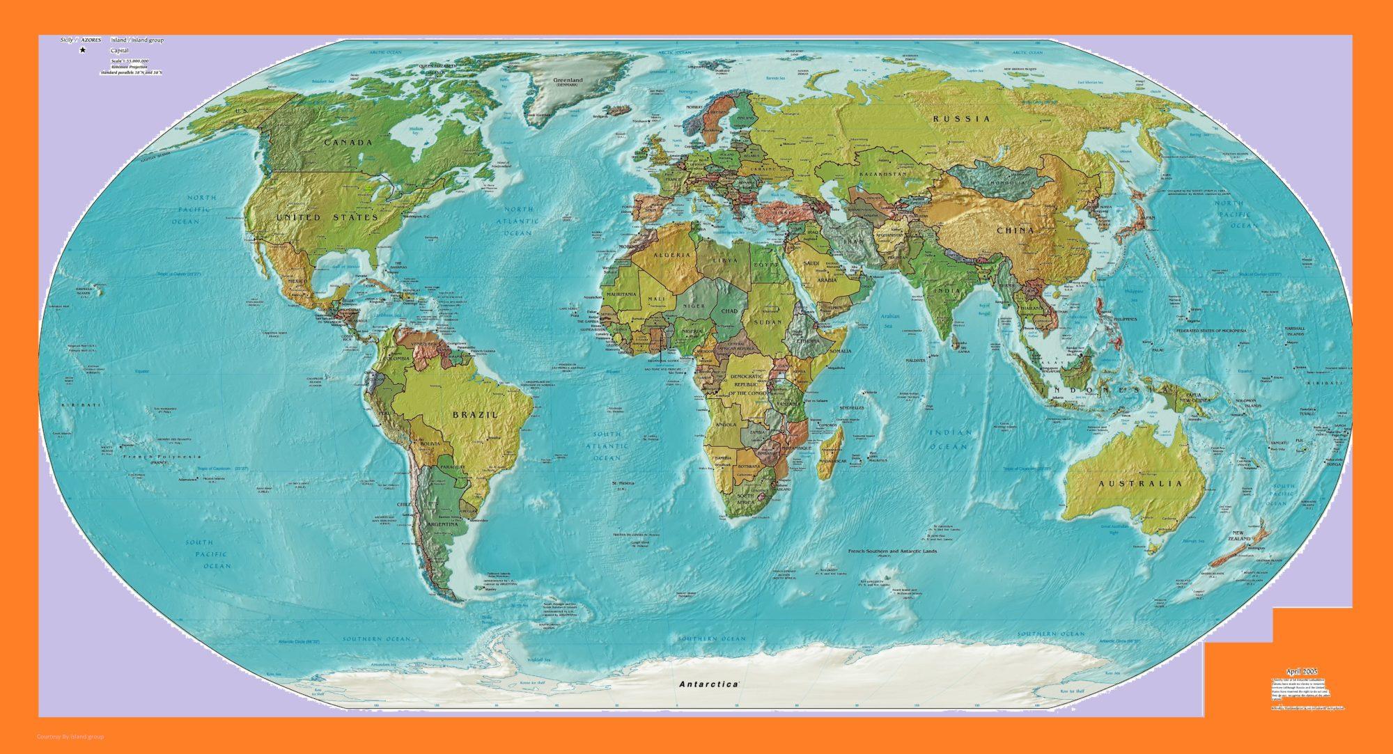 World Map Printable Large