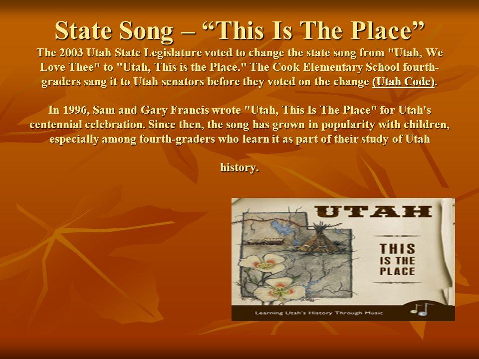 State Song Of Utah