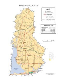 Baldwin County Map | Printable GIS Rivers Map of Baldwin Alabama