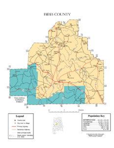 Bibb County Map |  Printable Gis Rivers map of Bibb Alabama