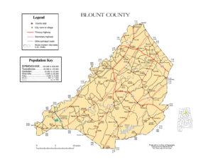 Blount County Map |  Printable Gis Rivers map of Blount Alabama