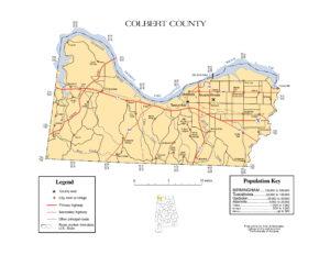 Colbert County Map |  Printable Gis Rivers map of Colbert Alabama