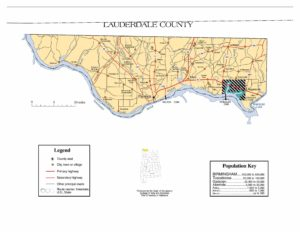Lauderdale County Map |  Printable Gis Rivers map of Lauderdale Alabama