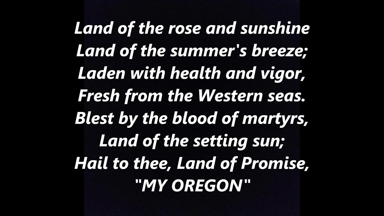 State Song Of Oregon