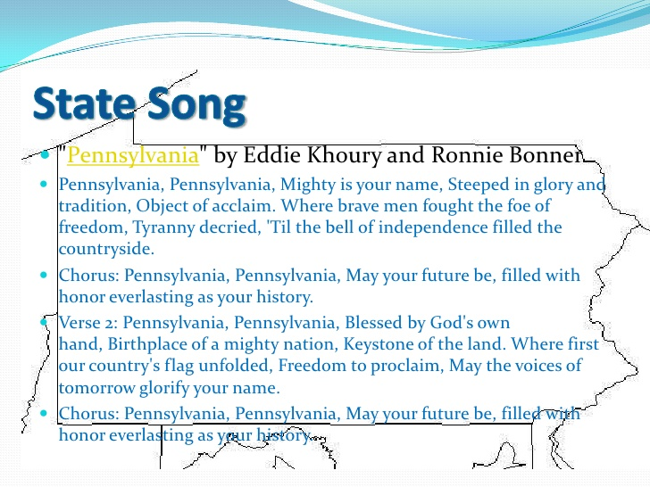 State Song Of Pennsylvania