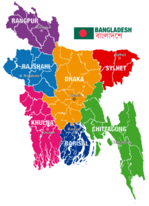 Map Of Bangladesh   Physical Map Of Bangladesh