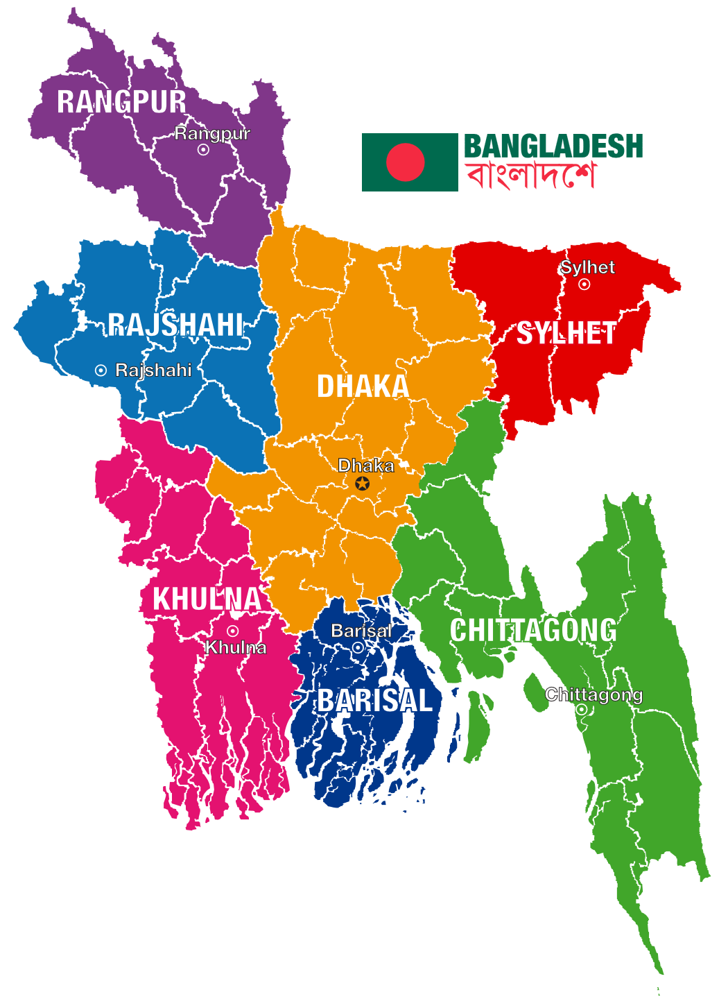 HD Map of Bangladesh