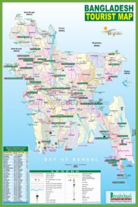 Tourist Map Of Bangladesh   Bangladesh Travel Guide Map