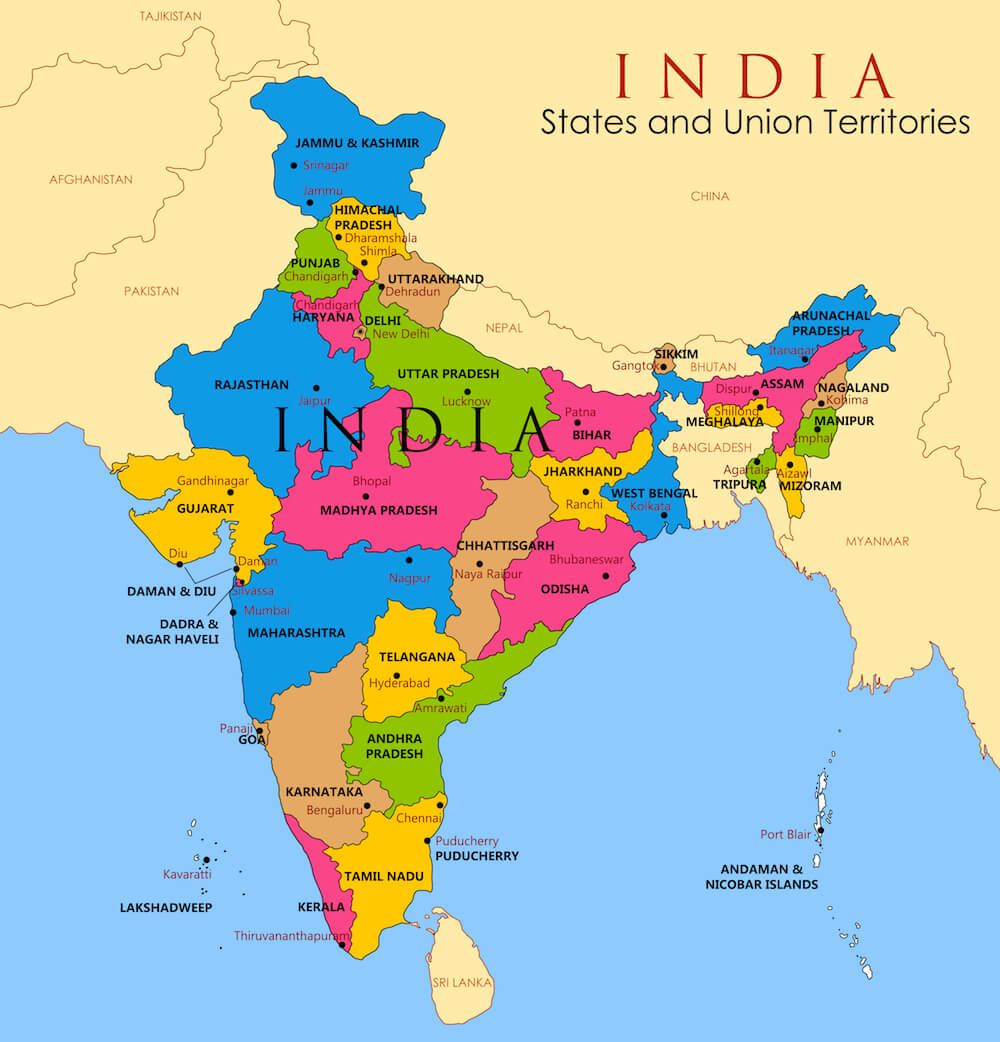 Map of India | Physical Map of India | WhatsAnswer